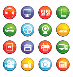 device icon set vector image
