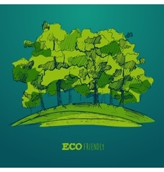 Eco Friendly Green Energy Concept Flat vector image
