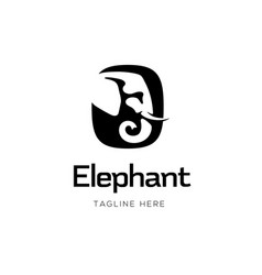 elephant sign logo design vector image