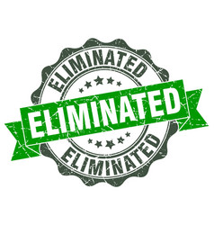 Eliminated stamp sign seal vector