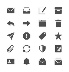 Email glyph icons vector