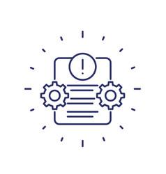 error report failed test line icon vector image