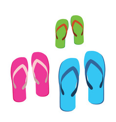 familys sandals vector image