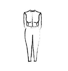 Figure nice woman wear style design vector