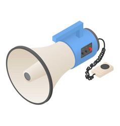 hand speaker icon isometric style vector image