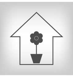 House with plant vector