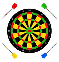 icon with darts vector image