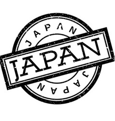 Japan rubber stamp vector
