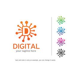 Letter d logo template design vector