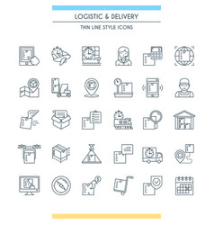 Logistic and delivery icon set vector