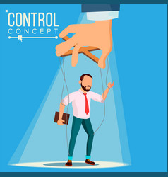 Manipulation businessman control concept vector