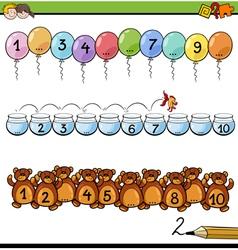 Mathematical educational task vector