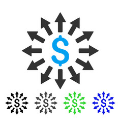 Money distribution flat icon vector