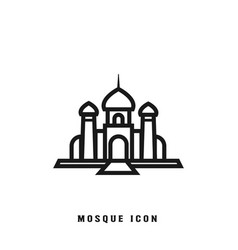 mosque lineart icon template vector image