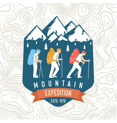 mountain expedition patch concept vector image
