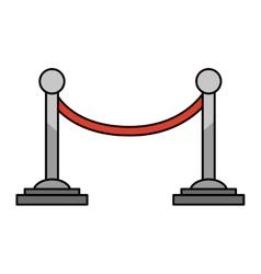 movie cord limit icon vector image