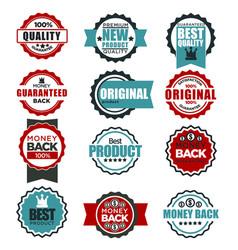 original quality guarantee labels templates vector image