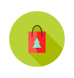 Pack with christmas tree flat icon vector