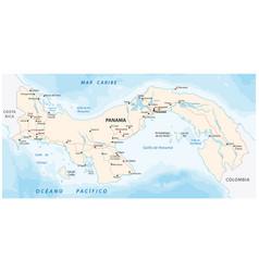 panama road map vector image