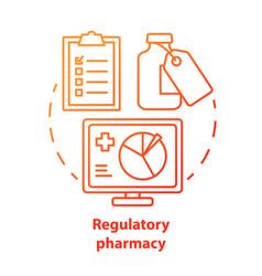 Pharmacy concept icon regulatory pharmacology vector