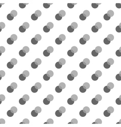 Polka dot gray double seamless pattern vector image