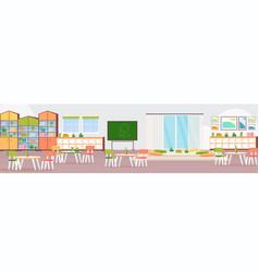 preschool modern kindergarten children classroom vector image
