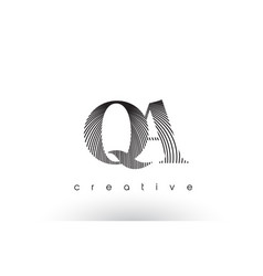qa logo design with multiple lines and black and vector image