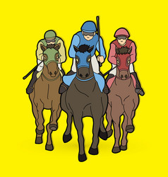 Riding horse race horse jockey equestrian vector