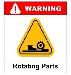 Rotating Parts Hazard sign vector