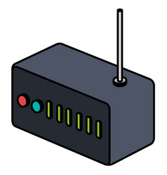 router wifi isolated icon vector image