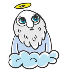 sad god on white background vector image