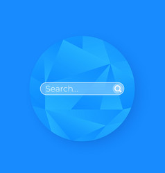 search bar page ui vector image