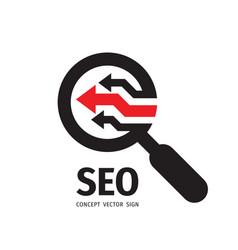 Seo - search engine optimization - logo vector