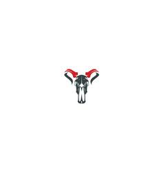 skull bull logo icon vector image