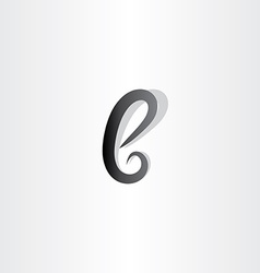 Small black logo icon letter b sign symbol vector