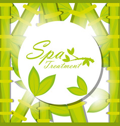 Spa emblem to healthy treatment skin vector
