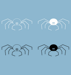 Spider the black and white color icon vector
