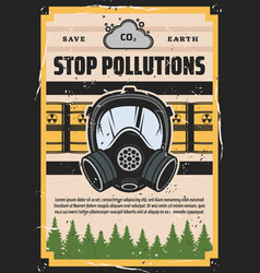 Stop pollution ecology environment contamination vector