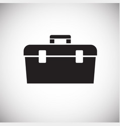 tool box on white background vector image
