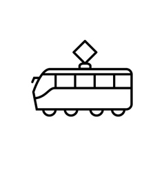 Tram line icon vector image