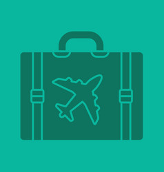 travel luggage suitcase glyph color icon vector image