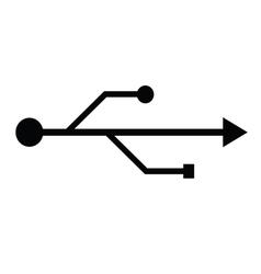 usb fllash icon vector image