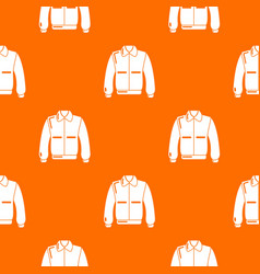 Varsity jacket pattern orange vector