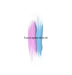 Vertical blue and pink paint brush strokes vector