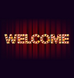 Welcome banner sign for banner poster vector