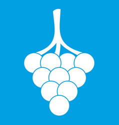 grapes on the branch icon white vector image