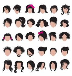 Hair styling vector