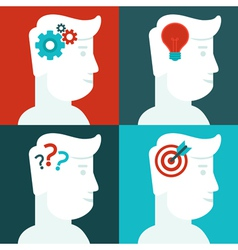 human thinking concept vector image