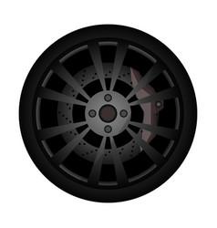 rally car rim icon vector image vector image