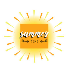 Summer card abstract sun vector